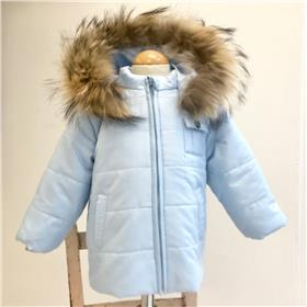 Bufi boys winter hooded jacket B10906 pale blue