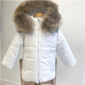 Bufi boys winter hooded jacket B10906 cream