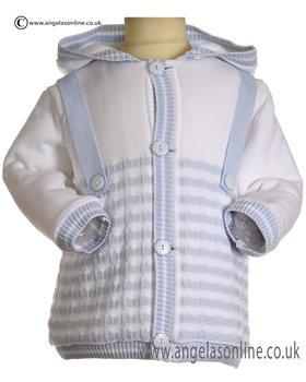 Pretty Originals Boys Knitted Jacket JPE2134E Blue