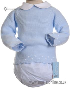Granlei Girls Knitted Jumper & Jam Pant 2-1153-18 BLUE