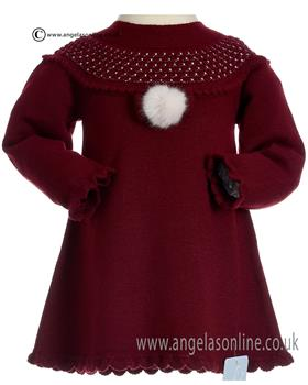 Granlei Knitted Dress 2-1382-18 WINE