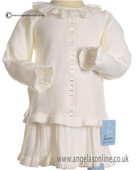 Granlei Girls Knitted Jumper & Skirt 2-1024-18 CREAM