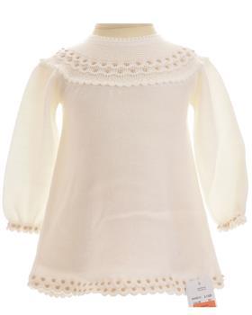 Granlei Girls Knitted Dress 2-1320-18 CR/BRWN