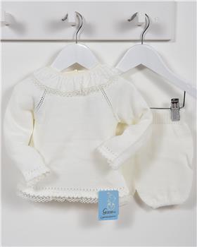 Granlei Girls Knitted Jumper & Short 2-1294-18 CREAM