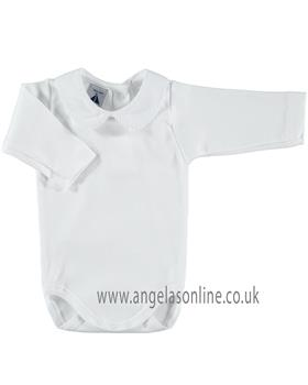 Babidu baby collared body suit 1188 White