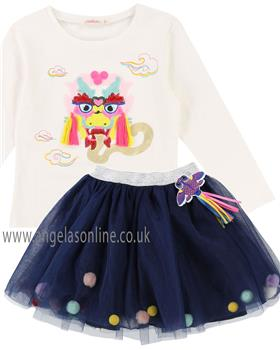 Billieblush girls top & skirt U15581-13188-18