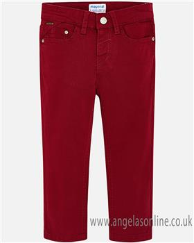 Mayoral boys trousers 41-18 wine