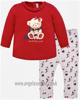 Mayoral baby girls top & legging 2044-2789-18 red