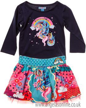 Rosalita Senorita girls top & skirt Teide  2-3
