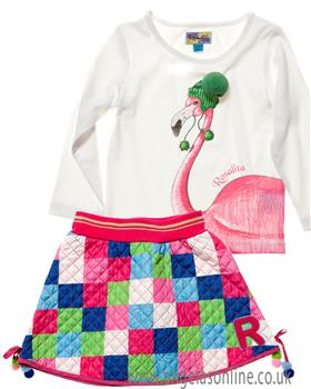 Rosalita Senorita girls top & skirt Cervino 2-3