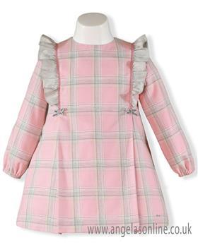 Miranda girls checkered dress 24-0277-V