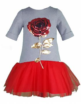 Daga Girls Dress M6611-18 GR