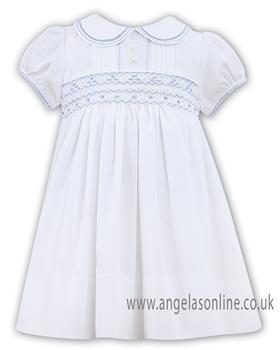 Sarah Louise girls dress 011446-19 Wh/Bl