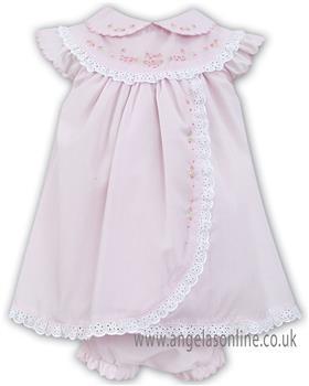 Sarah Louise girls dress & pant 011457-19 Pk/Wh