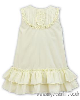 Sarah Louise girls dress 011492-19 Lemon