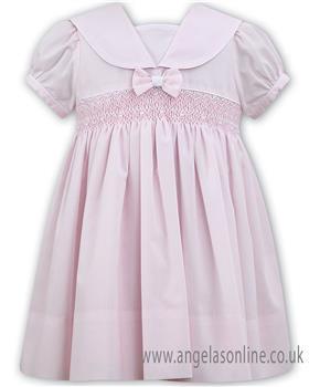 Sarah Louise girls dress 011504-19 Pk/Wh