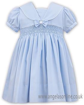 Sarah Louise girls dress 011504-19 Bl/Wh
