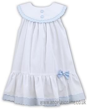 Sarah Louise girls dress 011572-19 Wh/Bl