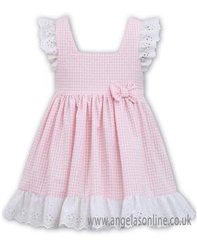 Dani girls summer dress D09307-19 Pk/Wh