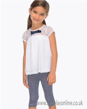 Mayoral girls legging set 3705-19 Navy