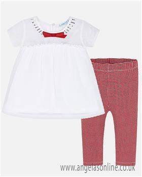 Mayoral girls legging set 3705-19 Red
