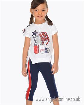 Mayoral girls legging set 3707-19 Navy
