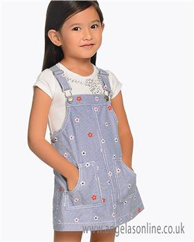 Mayoral girls top & pinafore set 174-3904-19 Blue