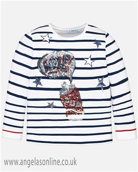 Mayoral girls T-shirt 3017-19 Navy