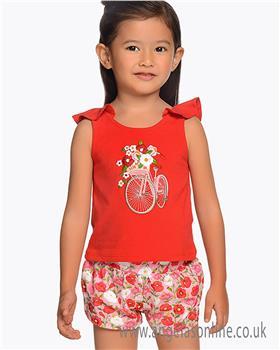 Mayoral girls short set 3219-19 Red