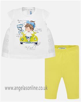 Mayoral baby girls legging set 1750-19 Blue
