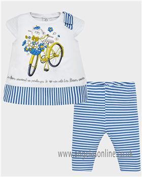 Mayoral baby girls legging set 1749-19 Blue