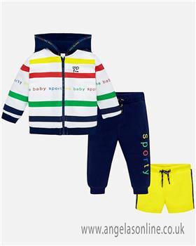 Mayoral baby boys 3 piece jog suit 1850-19 Yellow