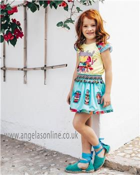 Rosalita Senorita girls T-shirt & Skirt set MELISSA 2-3-19