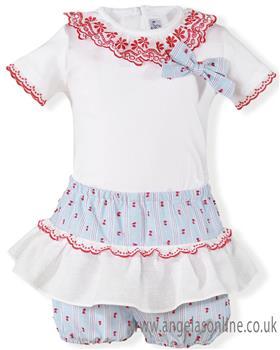 Miranda Baby Girls Tshirt & Short 25-0174-23-19 WH/BL