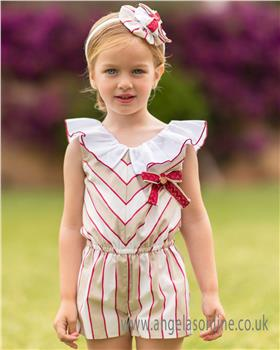 Dolce Petit Girls Playsuit 25-2200-P-19 RD/BGE