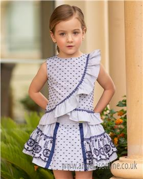 Dolce Petit girls blouse and skirt 25-2240-23