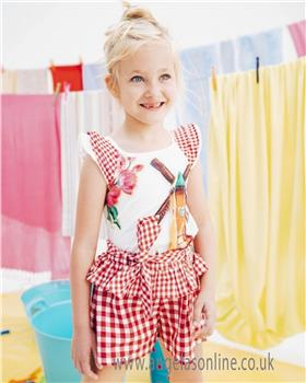 Rosalita Senorita girls T-shirt & Short set MUSHROOMS 2-8-19