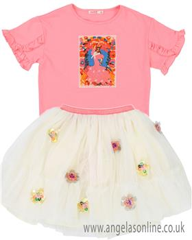 Billieblush girls T-shirt & skirt set U-15618-13214-19 Pink