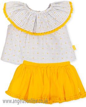 Tutto Piccolo girls blouse & skirt 6113-6412-19 Mustard