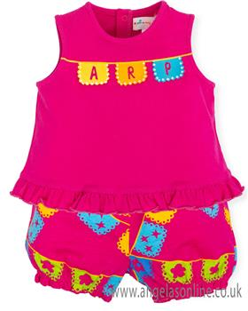 Agatha Ruiz girls two piece set 7591-19 Fuscia