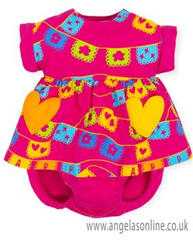 Agatha Ruiz girls dress & knicks 7791-19 Fuscia