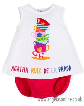 Agatha Ruiz girls dress & knicks 7792-19 Coral