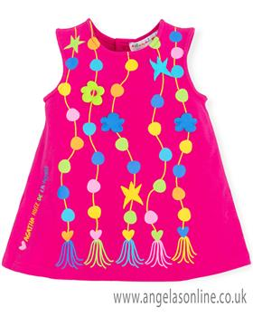 Agatha Ruiz girls dress 7201-19 Fuscia