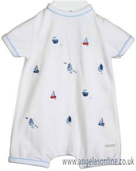 Bluesbaby boys romper NN0376-19 White