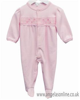 Bluesbaby girls babygrow LL0364-19 Pink