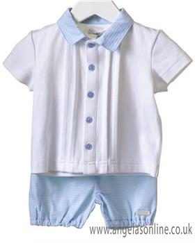 Bluesbaby boys top & short set RR0005-19 Bl/Wh
