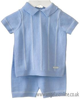 Bluesbaby boys 2 piece knitted set RR0054-19 Blue