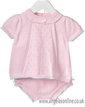 Bluesbaby girls 2 piece knitted set RR0065-19 Pink