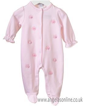 Brecrest Baby Girls Baby Gro RR0136-19 PINK