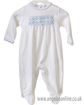 Brecrest Baby Boys Baby Gro RR0141-19 WH/BL